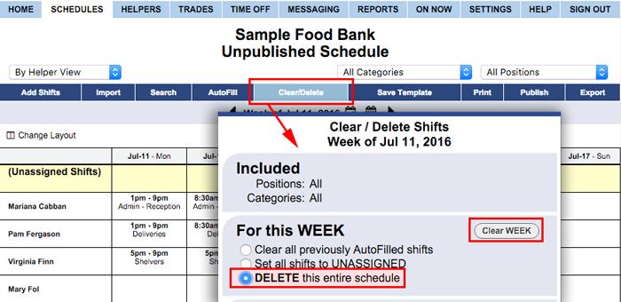 Delete Schedule