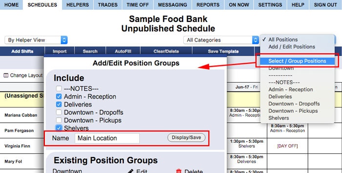 create location position group